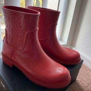 Coach rain booties
